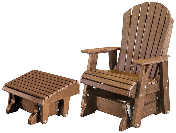 Heritage Single Glider with Footrest set by Wildridge