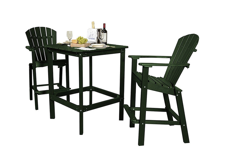 "Classic 3 Piece 42"" High Dining Table with 2 High Dining Chairs by Wildridge"