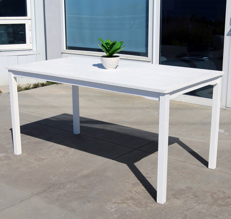 AUKI Outdoor Rectangular Patio Dining Table