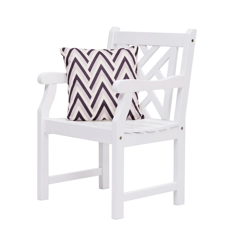 AUKI Outdoor Garden Armchair in White