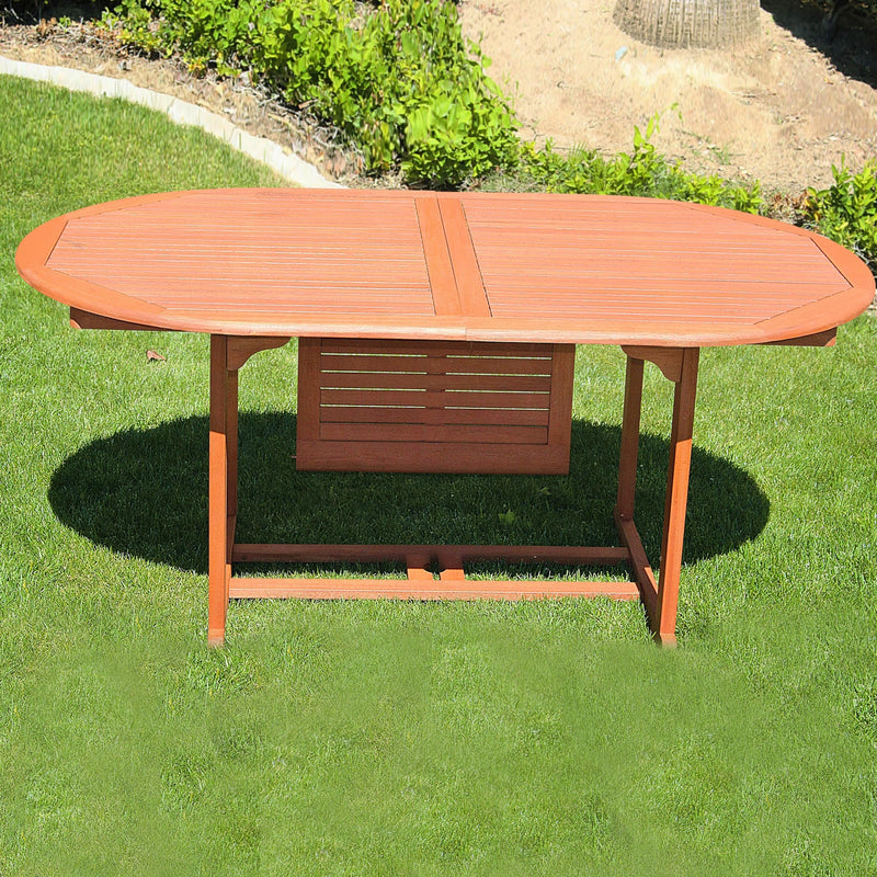 NORO Outdoor Oval Extension Table with Foldable Butterfly