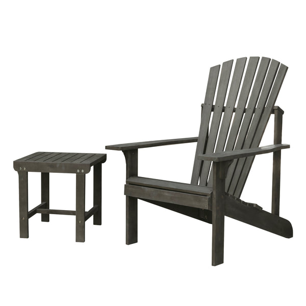 LATA Outdoor Patio Wood 2-Piece Conversation Set
