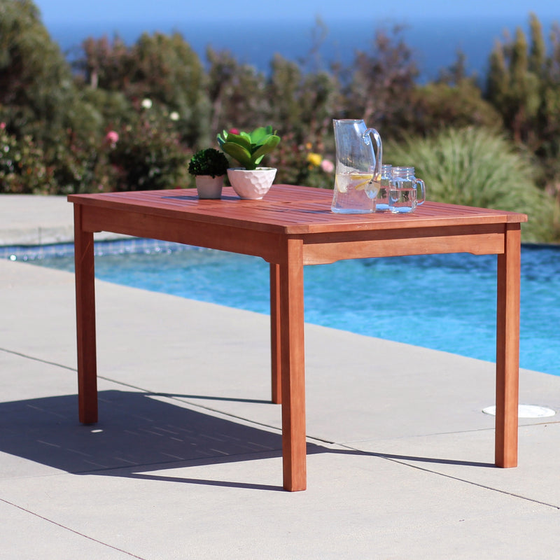 NORO Outdoor 5-piece Wood Patio Dining Set