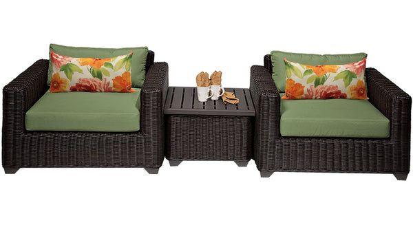 Venice 3 Piece Outdoor Wicker Patio Furniture Set 03a