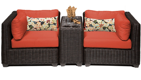 Venice 3 Piece Outdoor Wicker Patio Furniture Set 03b