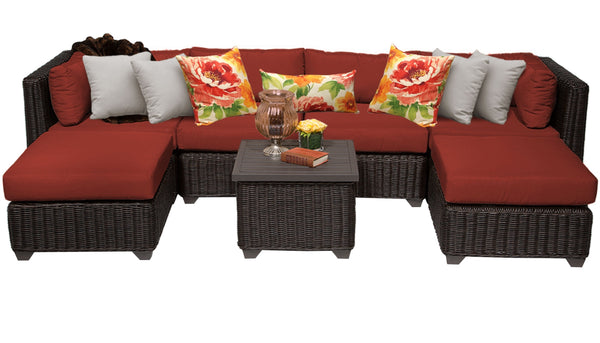 Venice 7 Piece Outdoor Wicker Patio Furniture Set 07a