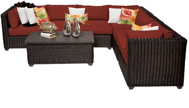 Venice 7 Piece Outdoor Wicker Patio Furniture Set 07b