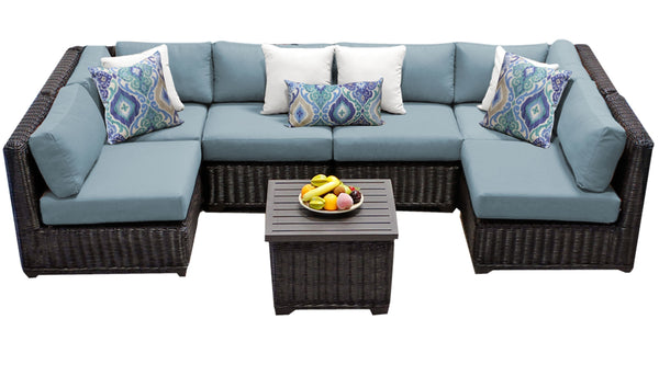 Venice 7 Piece Outdoor Wicker Patio Furniture Set 07d
