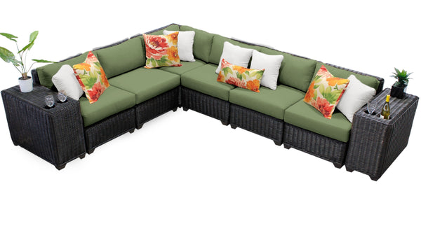 Venice 8 Piece Outdoor Wicker Patio Furniture Set 08a