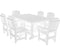 7 Piece Patio Dining Set with 4 Dining Chairs and 2 Arm Chairs Set by Wildridge