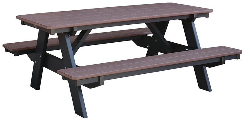 Heritage Picnic Table w-Attached Bench by Wildridge