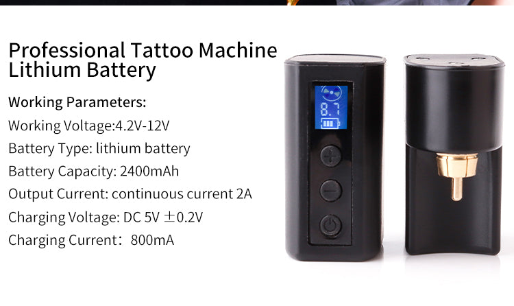 LCD Battery Adaptor-RCA, LCD Battery Adaptor-DC, battery tattoo power supply, professional tattoo machine lithium battery