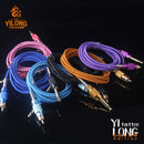 YILONG 1.8m  Top Quality  RCA Tattoo Clip sliver Rubber Silicone Cord For Tattoo Power Supply Tattoo Machine