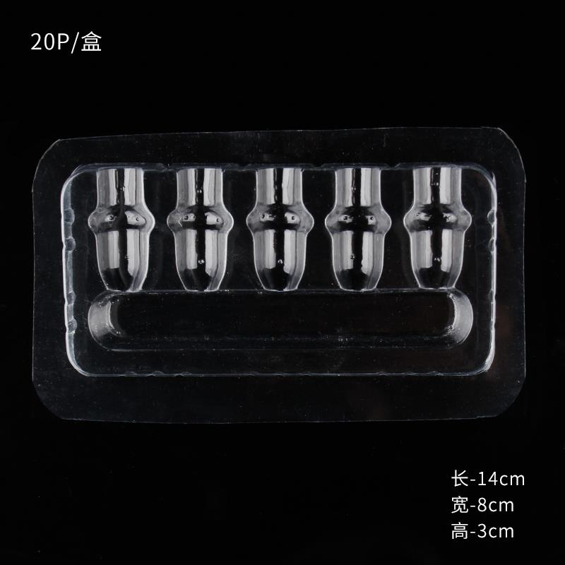 YILONG Disposable Plastic Tattoo Cartridge Needles Holder Stand for Most Cartridge Tattoo Needles 20Pcs Tray Clear Color