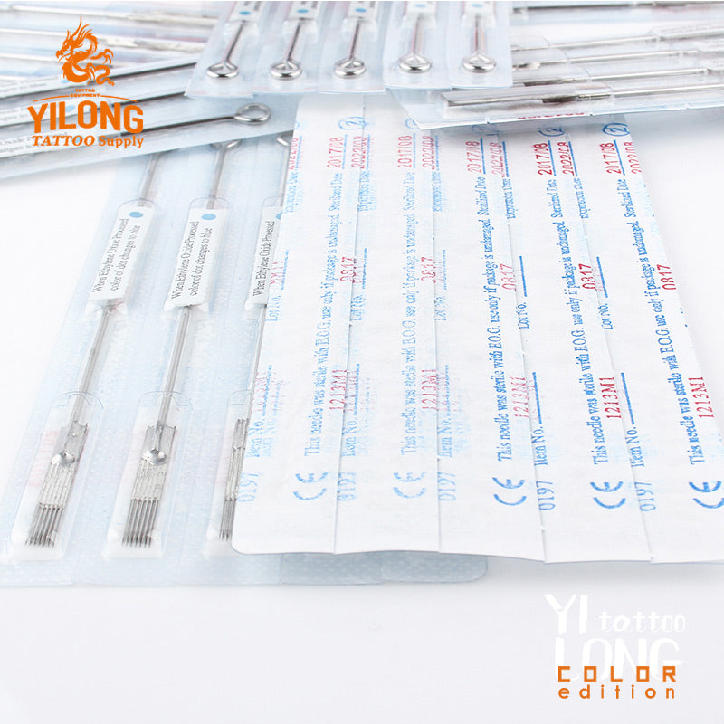 50PCS Tattoo Needles  steel disposable Sterilze Tatoo Needles Curved Round Liner Needles Tattoo Supply