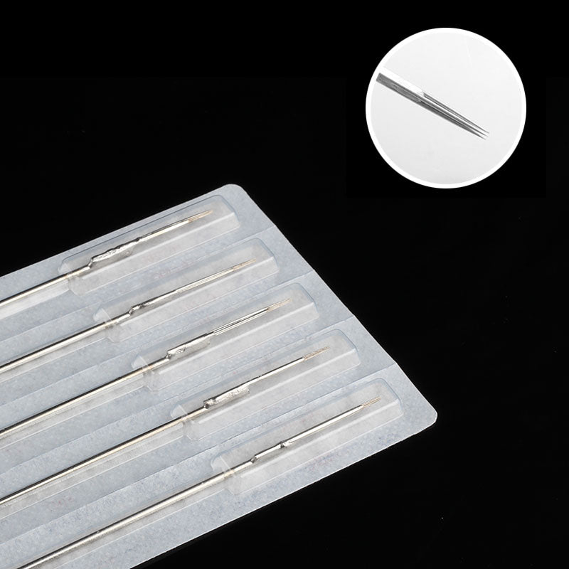 50PCS/BOX white box Professional Tattoo Needles Single Magnum Sterilize Tattoo Needles Medical Stainless Steel Material