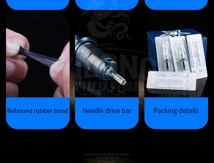 Permanent Makeup Machine Gun  10pcs  M1 Disposable Tattoo Cartridge Needles Sterilized Charmant Tattoo Pen Accessories