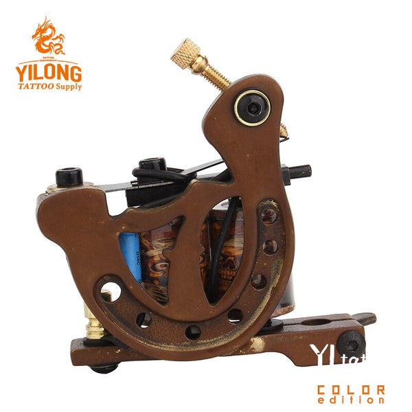 Hot Sale Coil Tattoo Machine Copper Frame Tattoo Gun Set For Liner and Shader
