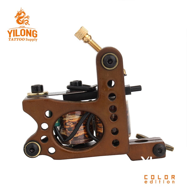 Professional Tattoo Coil Machine 10 Wraps Coil Tattoo Gun For Liner and Shader