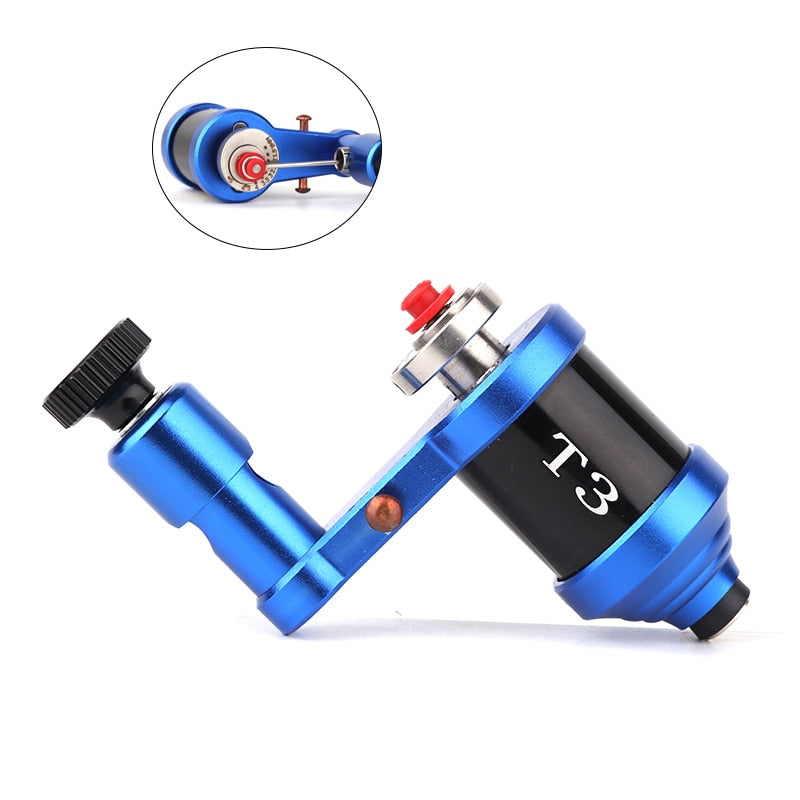 Rotary Tattoo Machine Gun Aluminum Frame Eccentric Steel DC Connected 4.5W Motor Shader and Liner Fine Control for Beginner