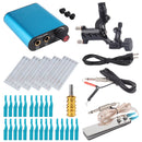 Tattoo Kit Black Dragonfly Rotary Tattoo Machine Shader & Liner With Tattoo Needle and Disposable Tattoo Tips Power Supply