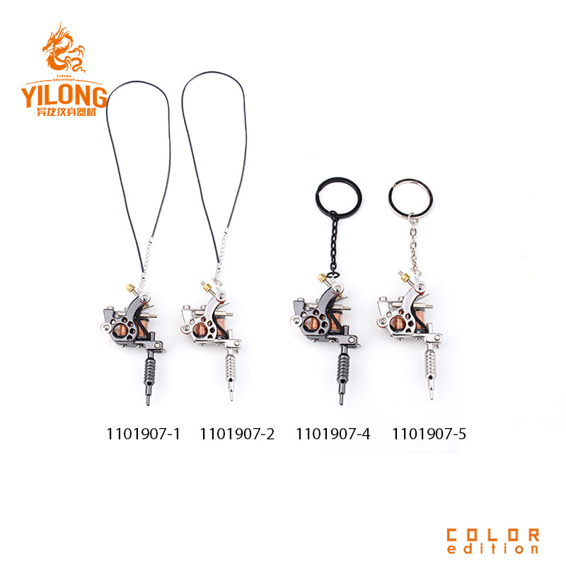 Tattoo gun Necklace Silver Tone Vintage Style 1pcs MINI tattoo machine Silver NEW  Tattoo Machine for Jewellery