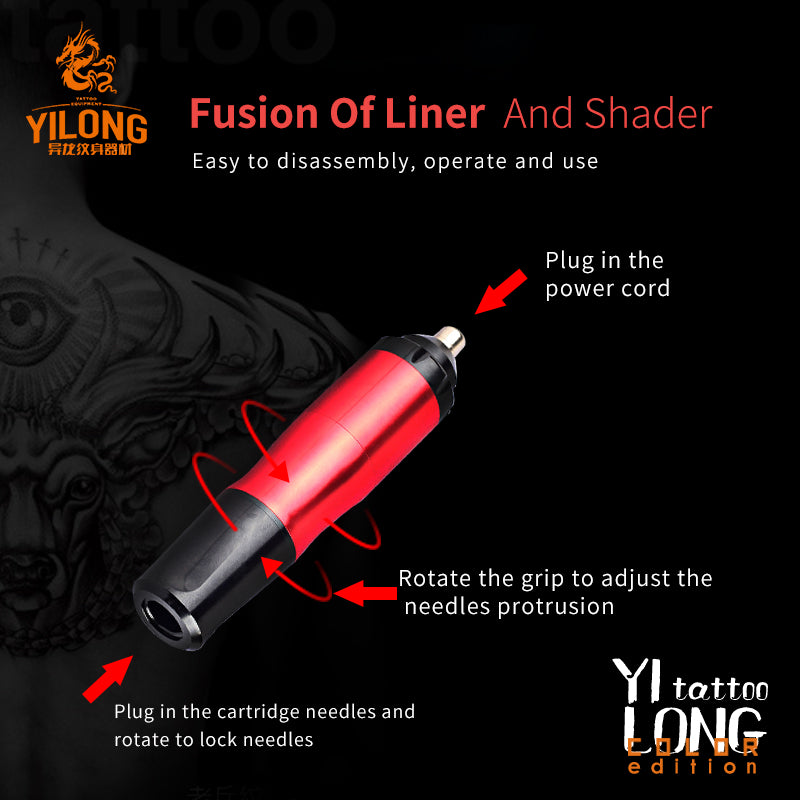 YILONG 11DAI One pcs Tattoo Rotary Pen Hybrid Permanent Makeup Tattoo Machine Strong Quiet Motor Supply