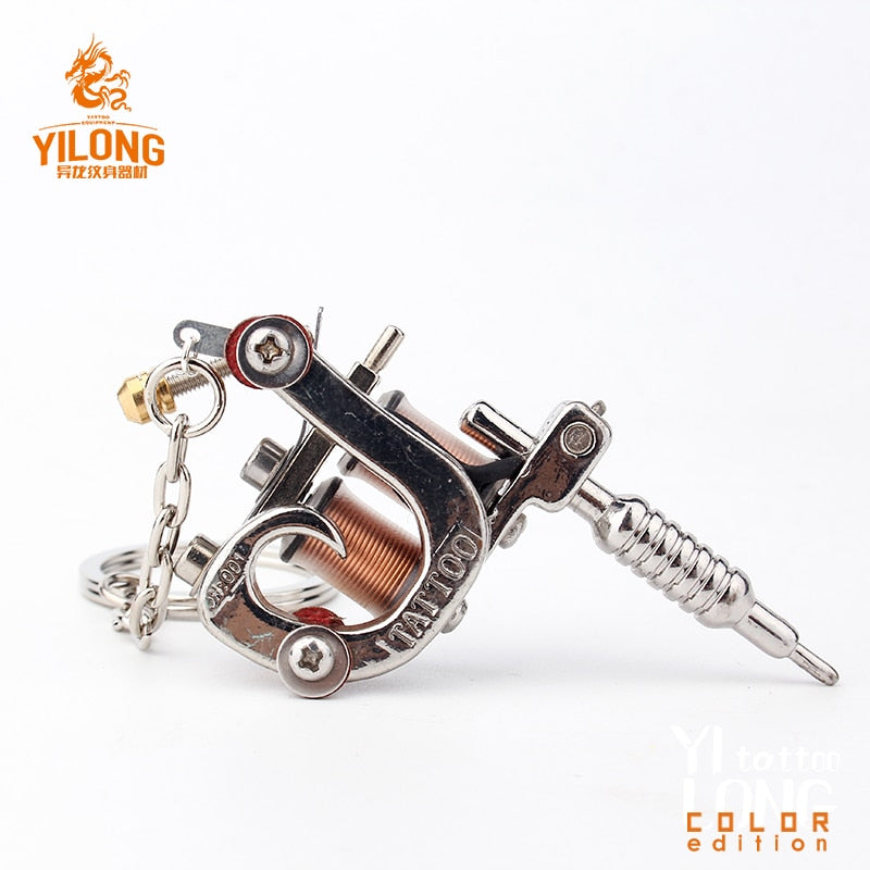 YILONG 1pcs Fashion Mini Tattoo Machine Necklace Pendant Punk Style Necklace For Women & Men's Hip Hop & Rock Jewelry Gifts