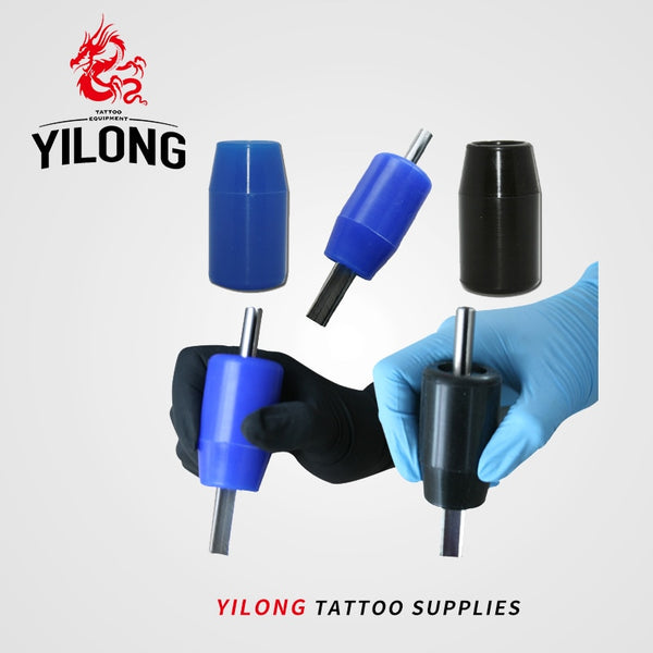 YILONG 1pcs High Quality Silicon Tattoo Grips Tube Supply for Machine Gun Tip two colors Free Shipping Tattoo & Body Art