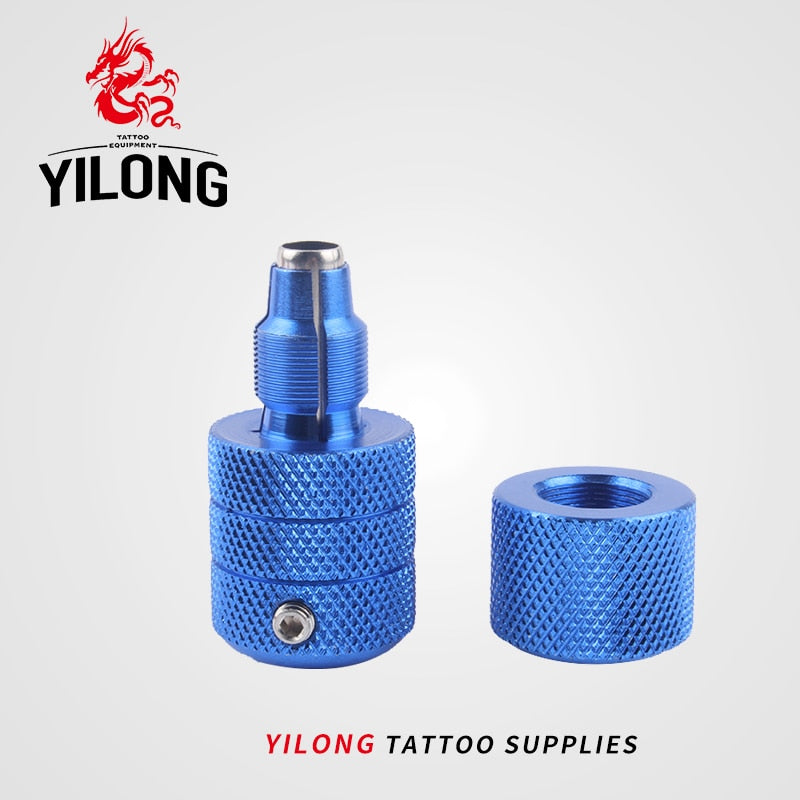 YILONG 1pcs Hot Sale 25mm Knurled Twist Self-Lock Aluminum Alloy Tattoo Grips For Tattoo Machine Gun 5 Colors Free Shipping