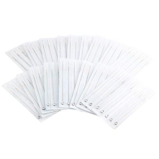 YILONG 200pcs Tattoo Needles (100Pc Liner and 100 Shader) 25Pc-3RL , 50Pc - 5RL , 25Pc-7RL , 25Pc-5RS , 25Pc-7RS , 25Pc - 9RS , 10Pc-5M1 , 15Pc- 7M1