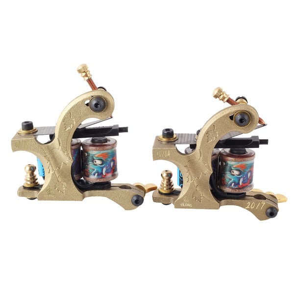 YILONG  2017 High Quality Coil Tattoo Machines  for  Two Tattoo Machine Gun As Liner and Shader with boxes