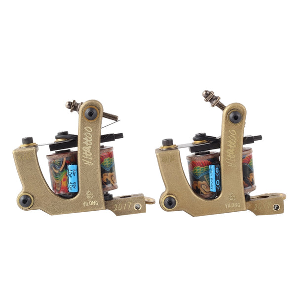2PCS YILONG  2017 High Quality Coil Tattoo Machines  for Tattoo Machine Gun As Liner and Shader with boxes