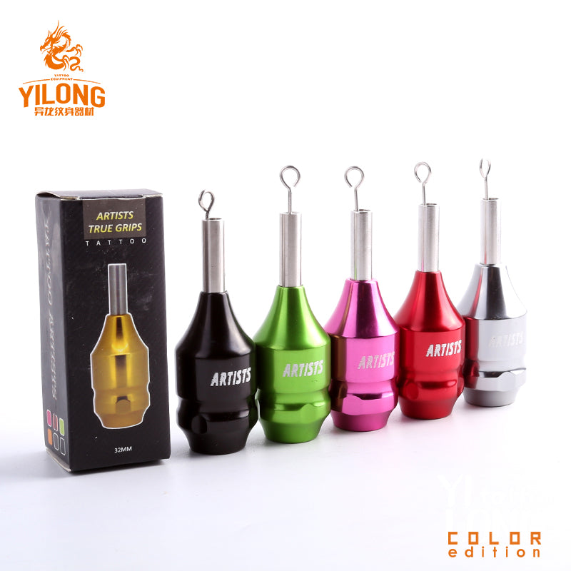 YILONG 30MM Aluminum Tattoo Grip Tube With 1 Needle Barble For Cartridge Tattoo Needle Rotary & Coil Tattoo Machine Gun