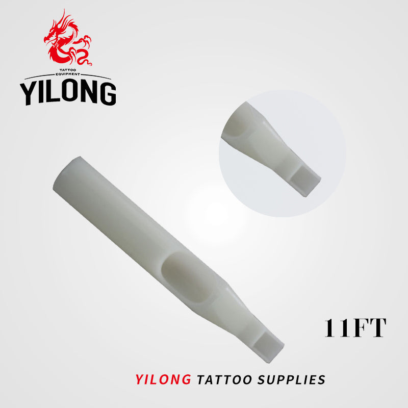 YILONG 50Pcs FT Disposable Tattoo Tips white Color tips pre-sterilized Nozzle Tip
