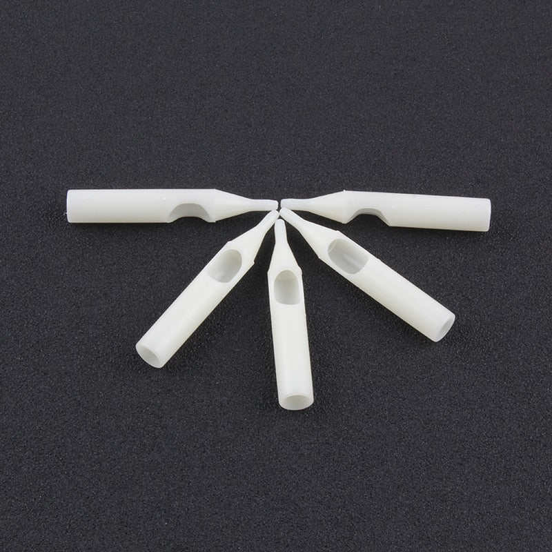 YILONG 50Pcs RT Disposable Tattoo Tips white Color  tips pre-sterilized Nozzle Tip