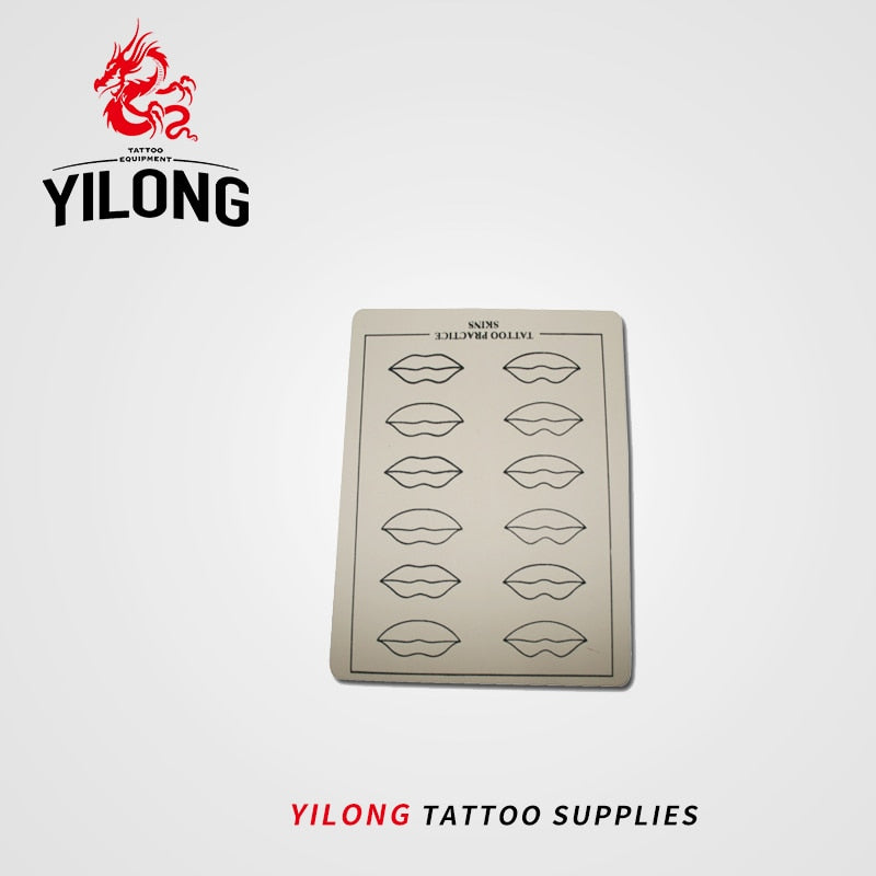 YILONG 5/10/20pcs Permanent Makeup Eyebrow Lips Blank Tattoo Practice Skin Sheet for Needle Machine Supply Kit Hot Selling
