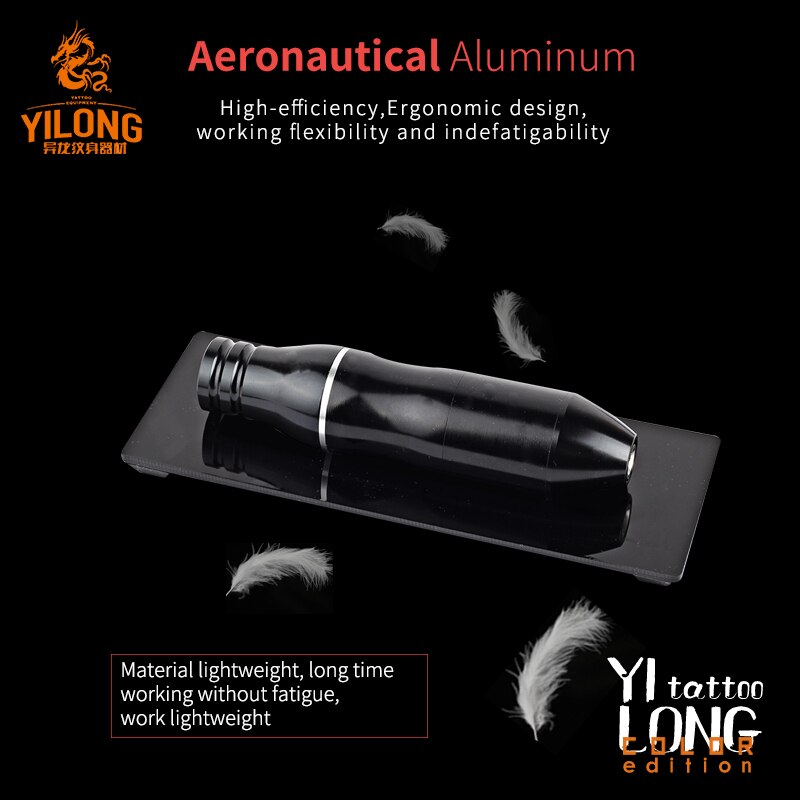 YILONG 9DAI Free Shipping Professional Permanent Makeup Machine 5 colors mortor tattoo pen