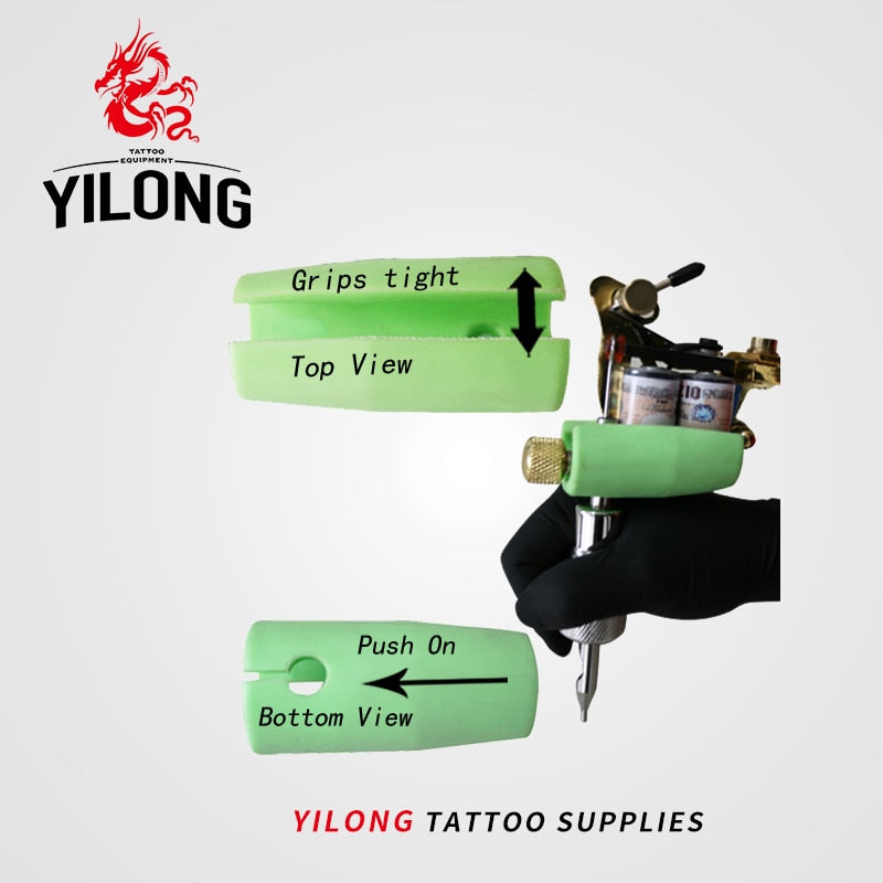 YILONG Professional Silicone Machine Grips Set Supply for Machine Gun Tip Tattoo & Body Art