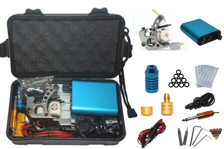 YILONG Tattoo Kit Professional with Best Quality Permanent Makeup Machine For Tattoo Equipment Cheap Blue Tattoo Machines
