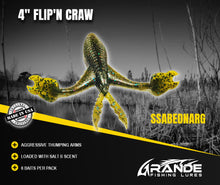 "Load image into Gallery viewer, 4"" FLIP'N CRAW - SSABEDNARG"