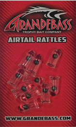 AIRTAIL GLASS RATTLES - 5MM-2 BALL