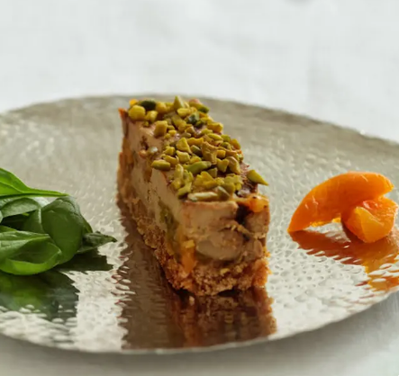 Marbled Foie Gras with pistachios,Apricots and Gingerbread