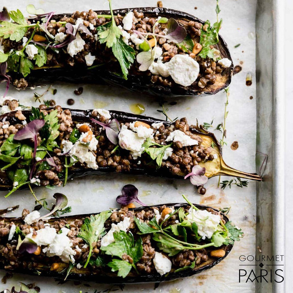 Roasted Eggplant with Grand Coeur Goat Cheese