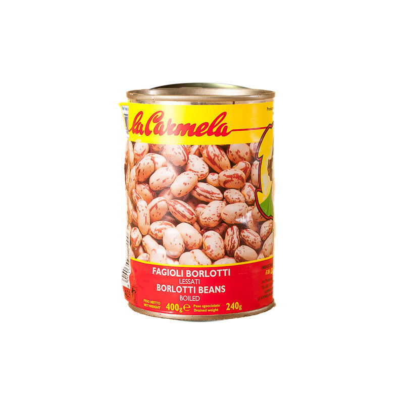 Fagioli Borlotti beans in tin - 400g - gourmet-de-paris-london