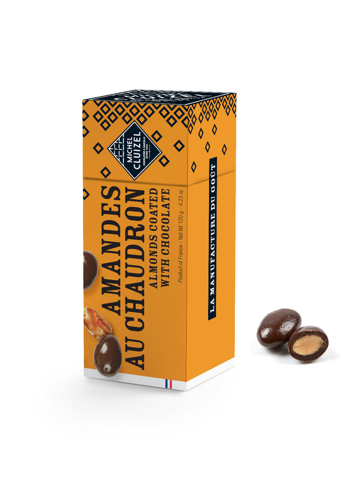 Amandes au Chaudron - Almond coated with chocolate Michel Cluizel - 120g