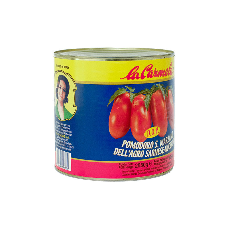 Italian San Marzano Peeled Tomatoes in tin - 400g - gourmet-de-paris-london