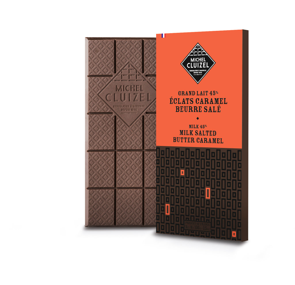 Milk chocolate bar with salted butter caramel Michel Cluizel - 100g