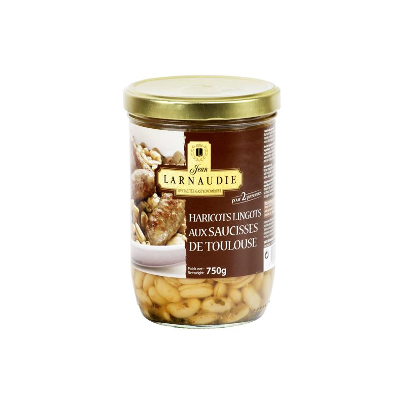 Toulouse sausages with white beans - 750g - gourmet-de-paris-london