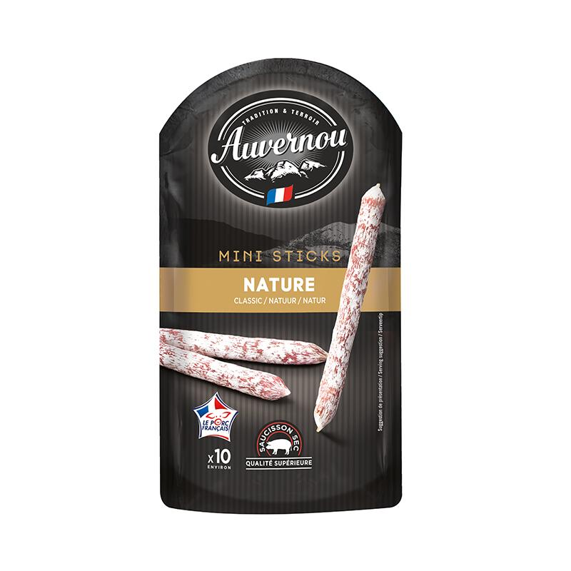 Mini Saucisson Sticks Plain - 100g - gourmet-de-paris-london